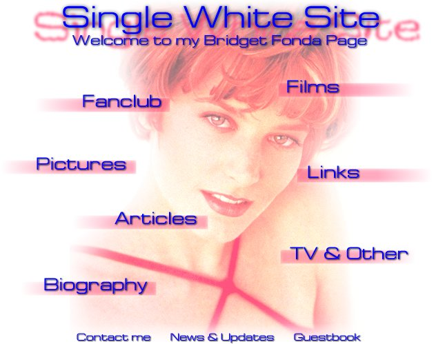 Single White Site - Main Menu